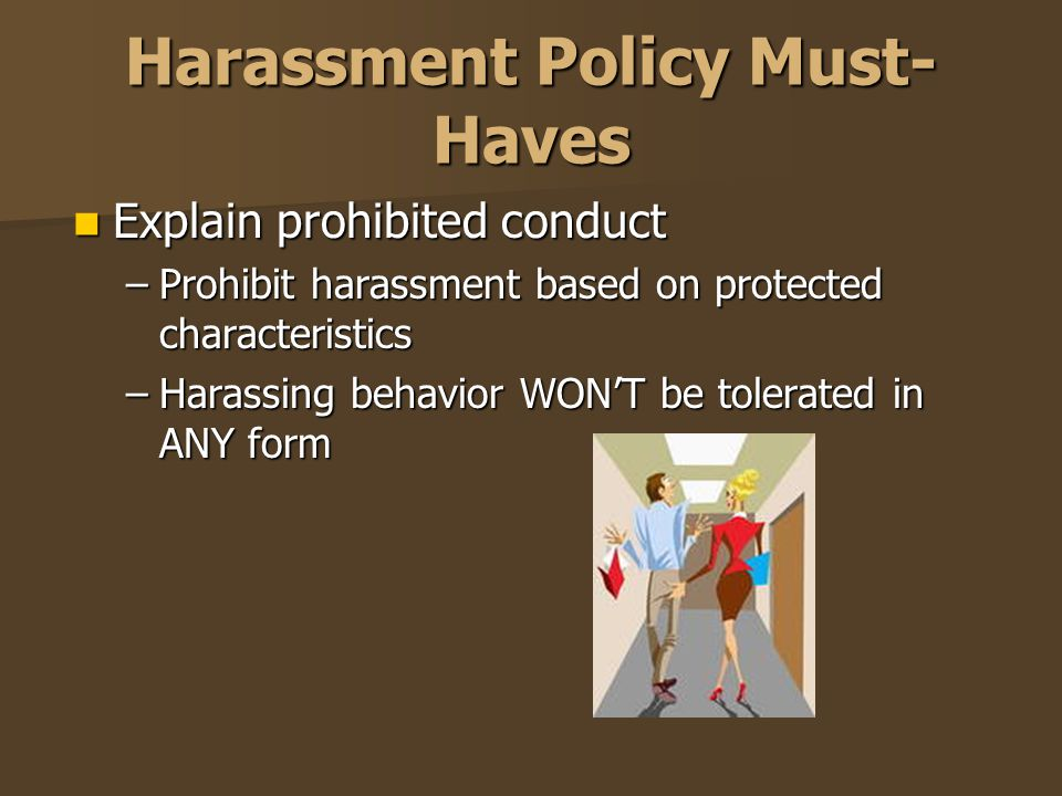 Harassment Policy Must-Haves