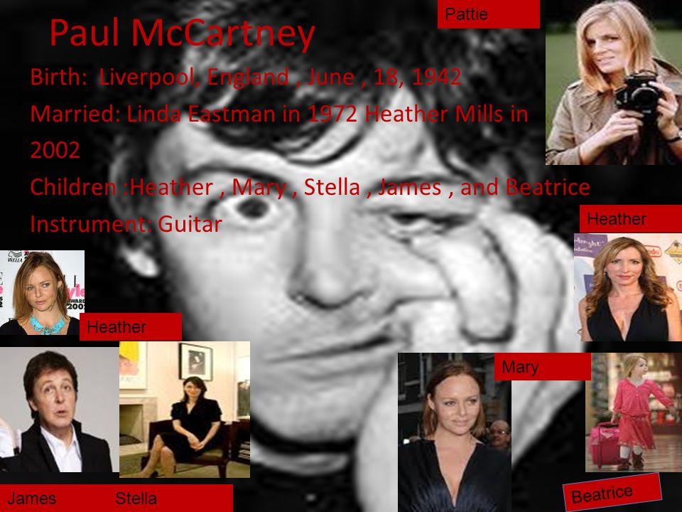 Paul McCartney Pattie.