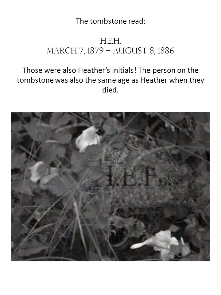 The tombstone read: H. E. H