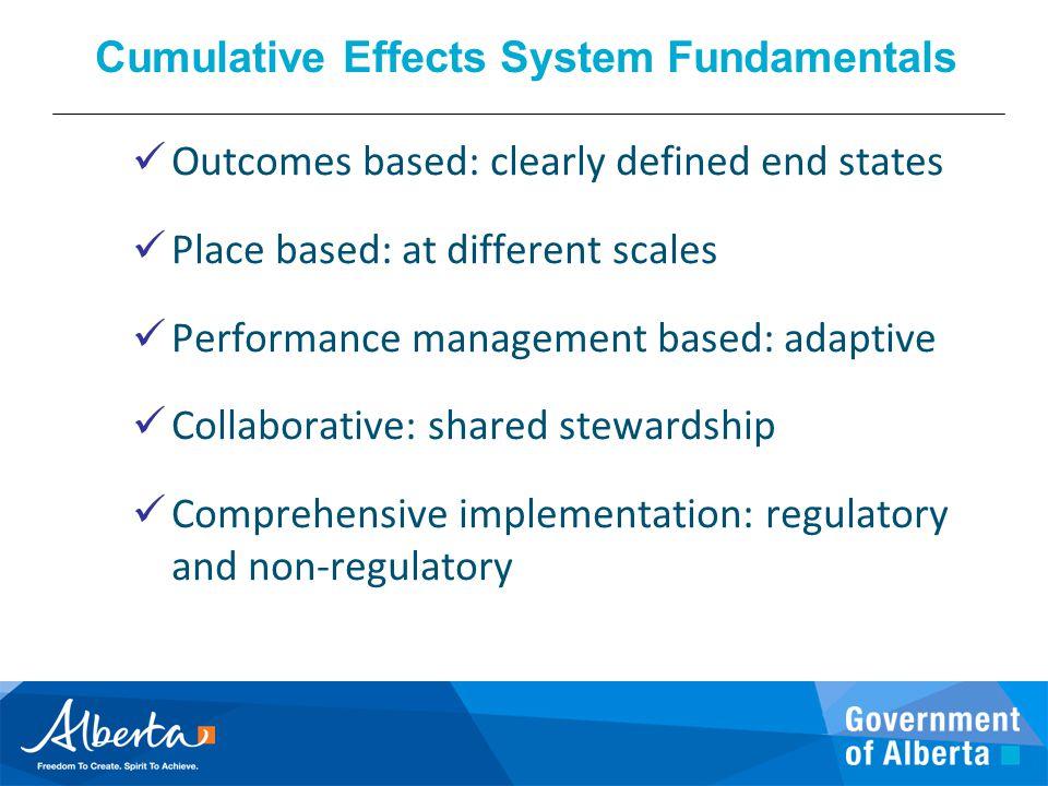 Cumulative Effects System Fundamentals