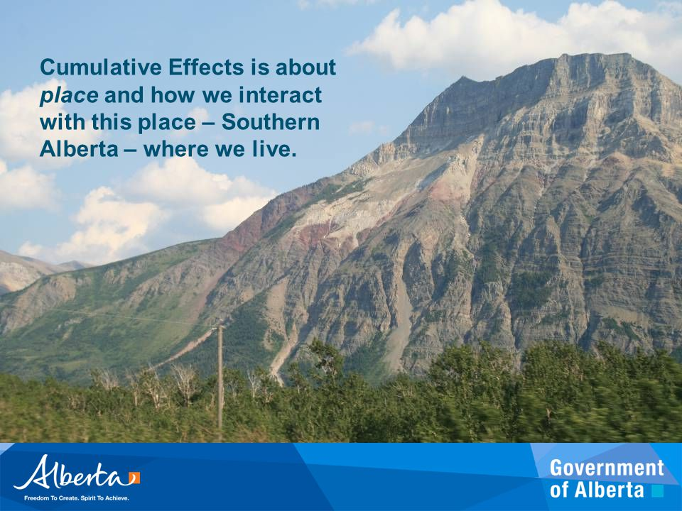 Cumulative Effects is about place and how we interact with this place – Southern Alberta – where we live.