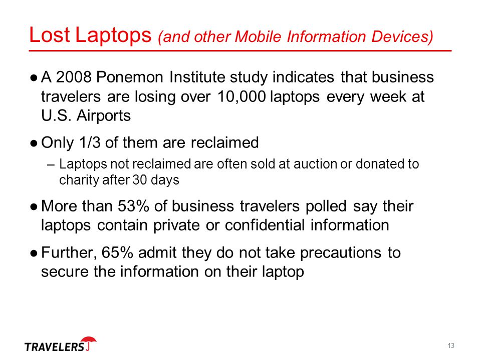 Lost Laptops (and other Mobile Information Devices)