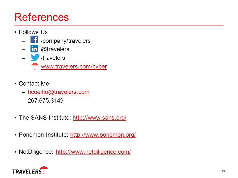 References Follows Us /company/travelers @travelers /travelers