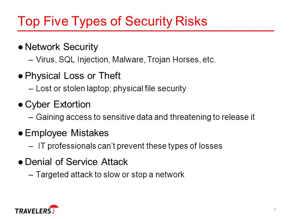Top Five Types of Security Risks