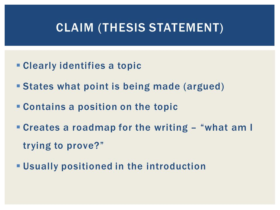 Claims thesis