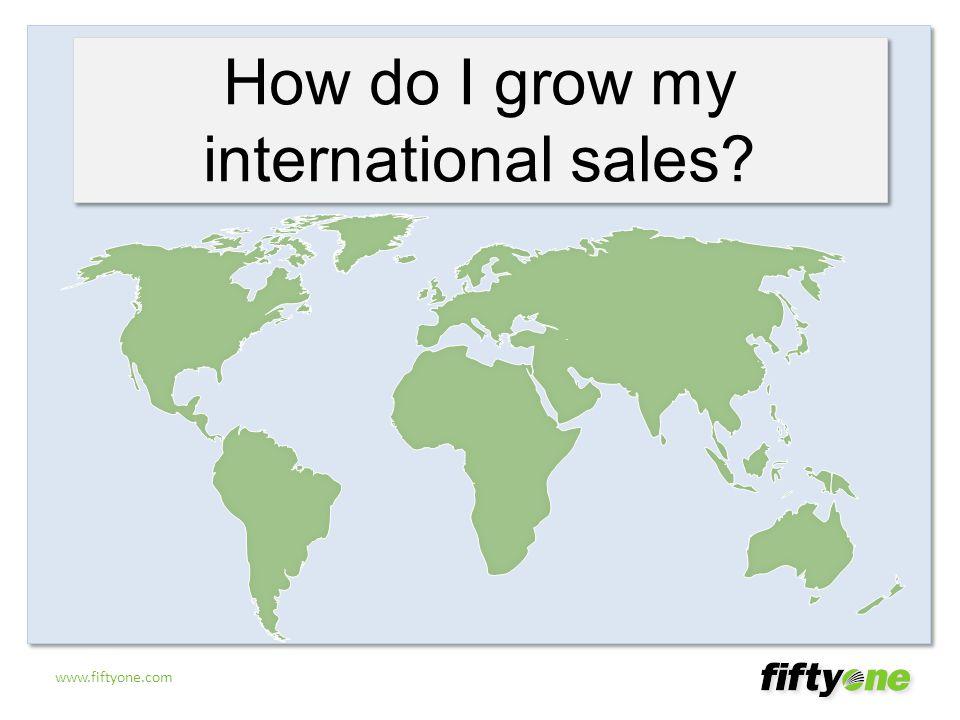 How do I grow my international sales