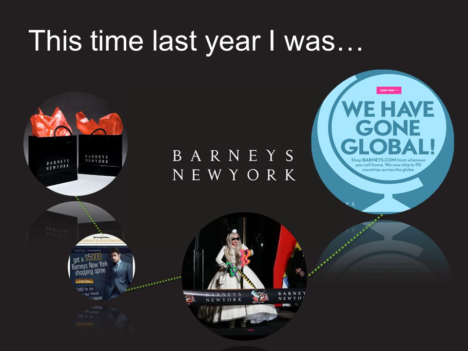 This time last year I was…