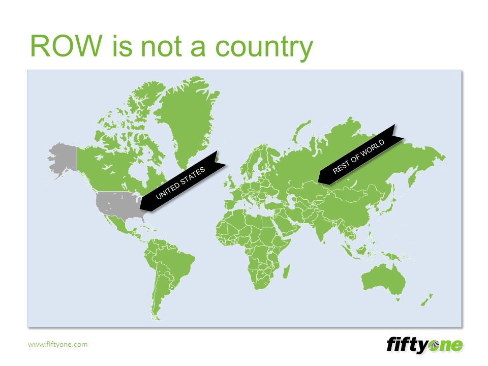 ROW is not a country ROW is not a country