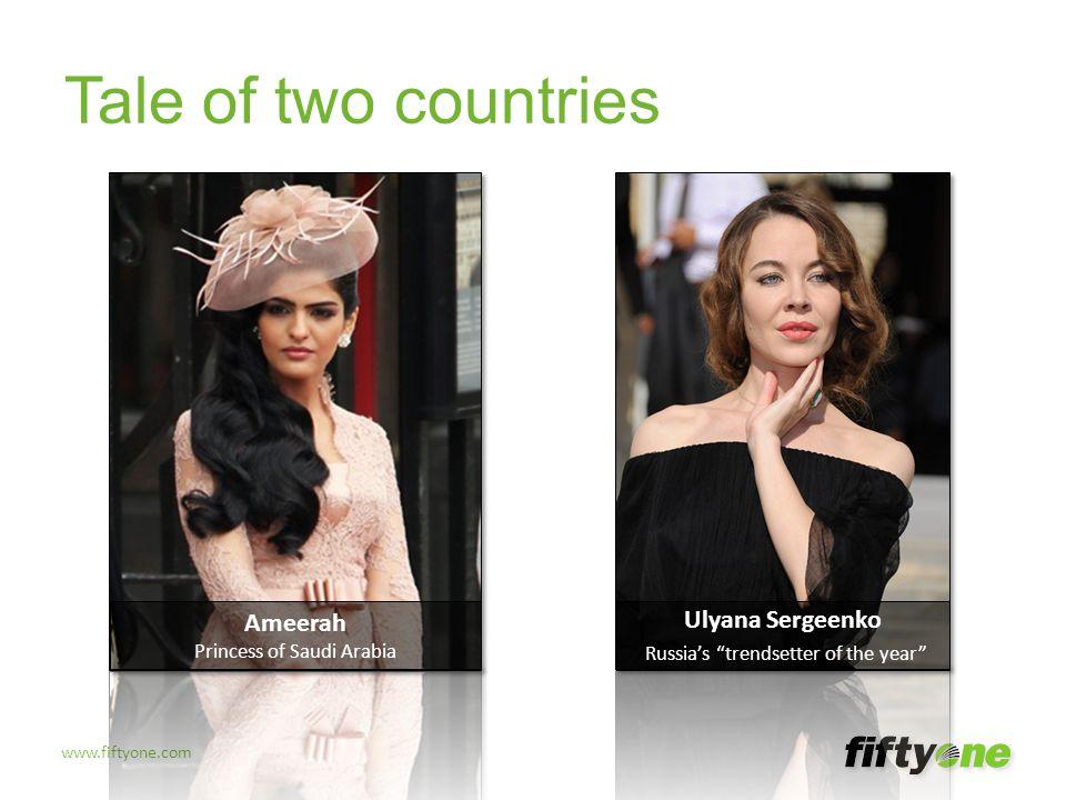 Tale of two countries Ameerah Ulyana Sergeenko