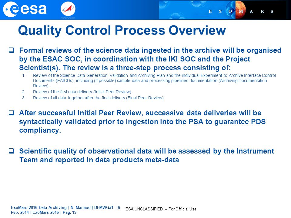 Quality Control Process Overview