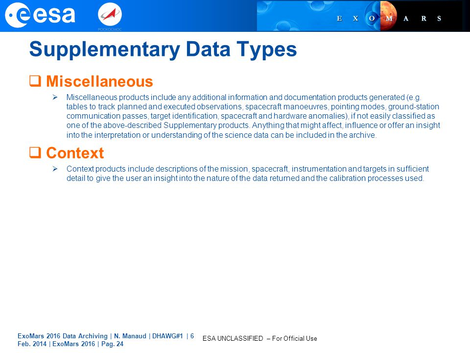 Supplementary Data Types