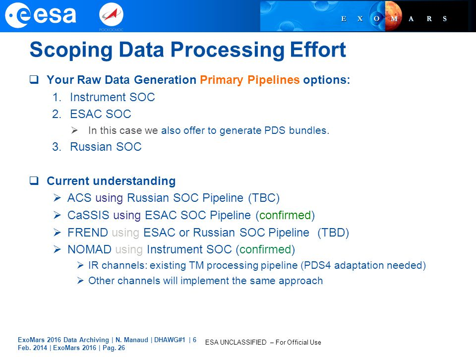 Scoping Data Processing Effort