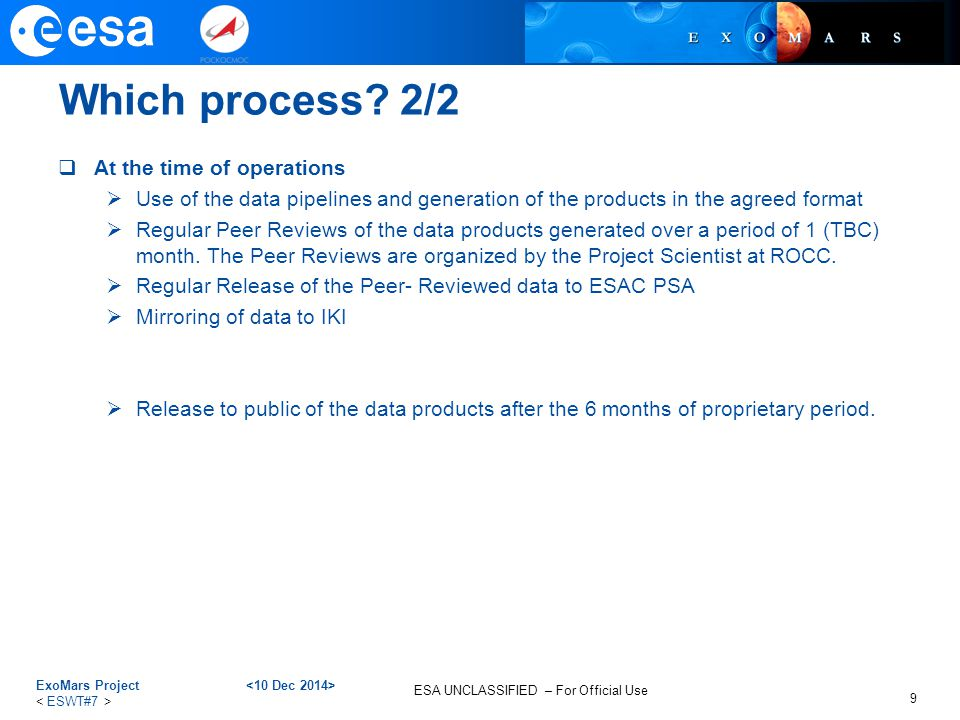 Which process 2/2 At the time of operations