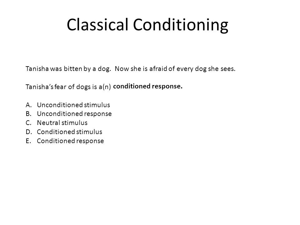 Classical Conditioning