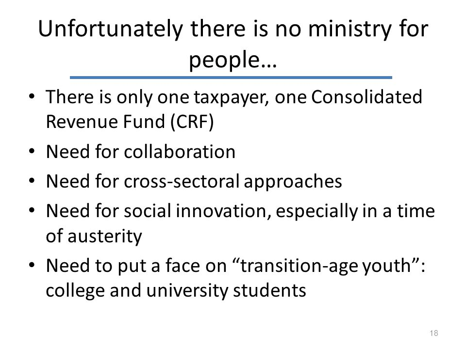 Unfortunately there is no ministry for people…