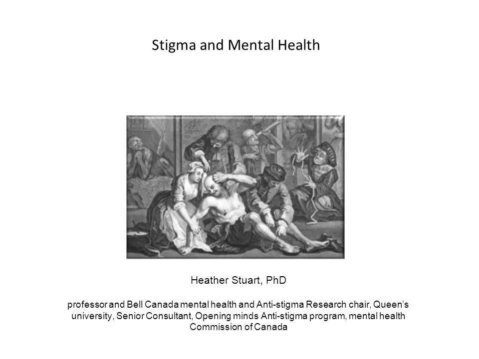 Stigma and Mental Health
