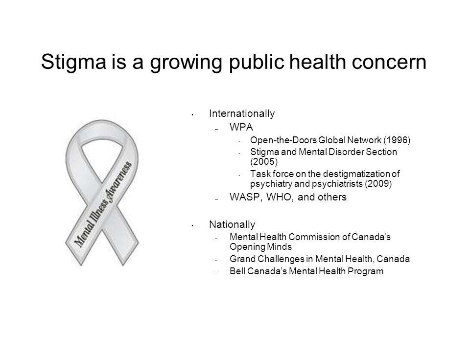 Stigma is a growing public health concern