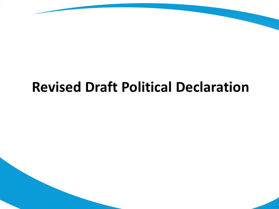 Revised Draft Political Declaration