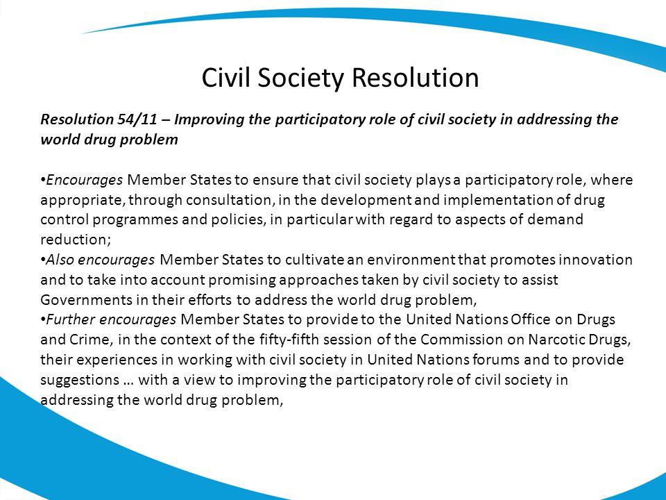 Civil Society Resolution