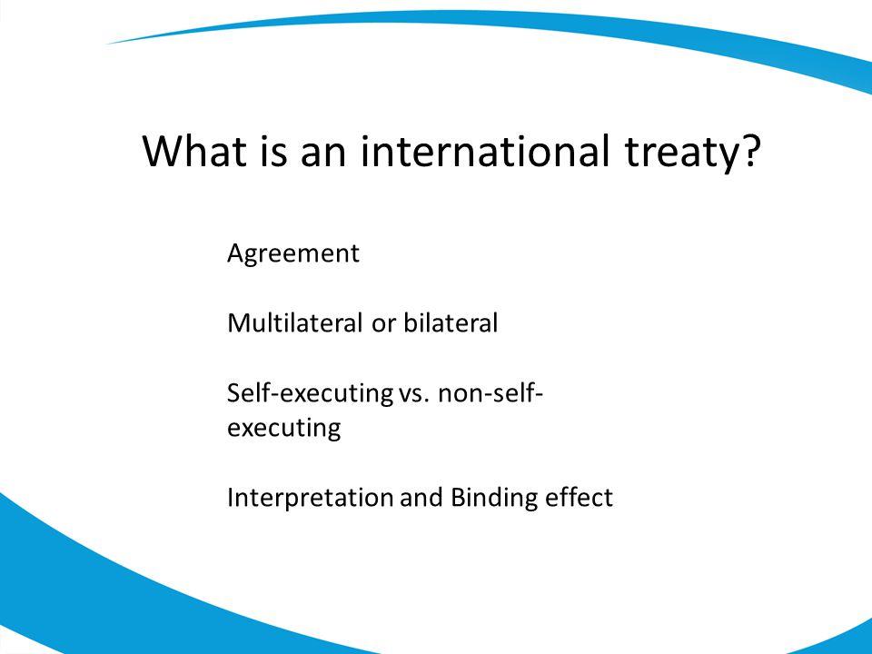 What is an international treaty