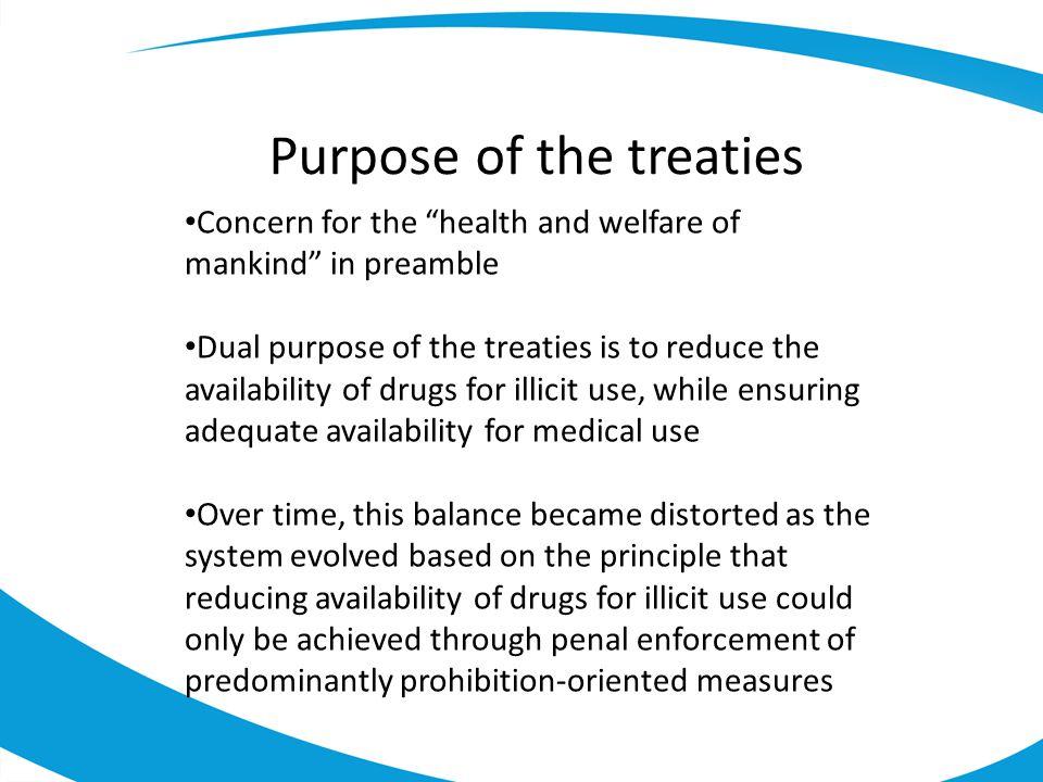 Purpose of the treaties