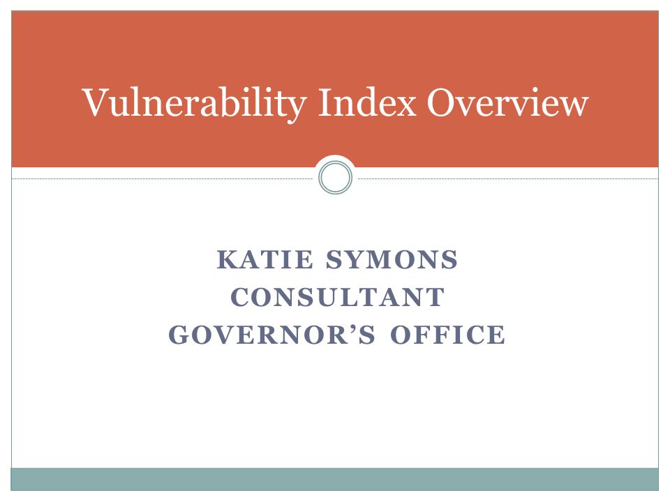 Vulnerability Index Overview