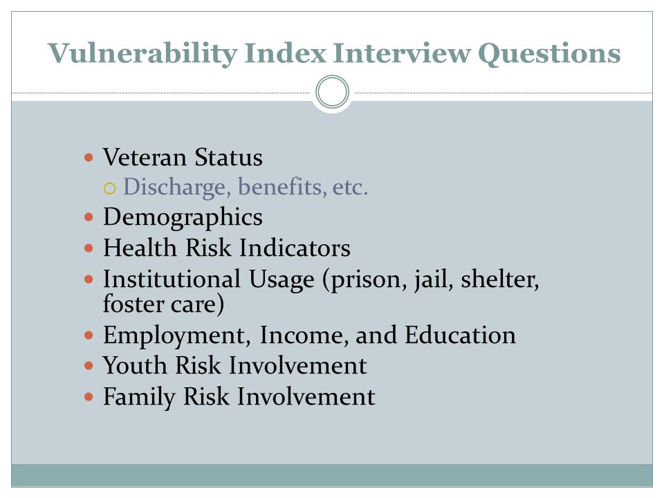 Vulnerability Index Interview Questions