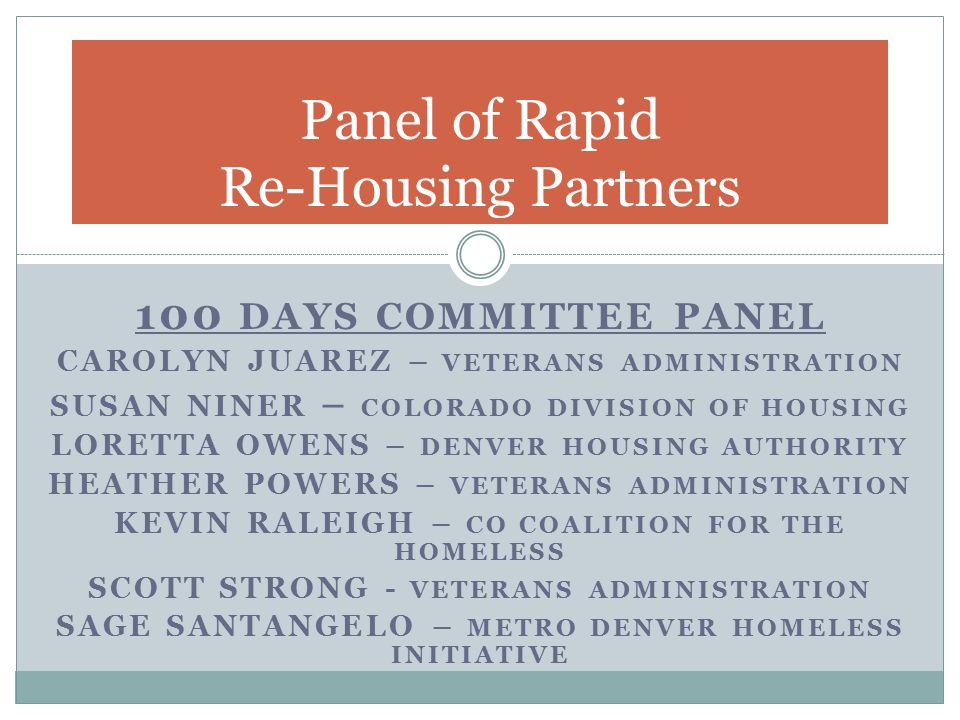 Panel of Rapid Re-Housing Partners