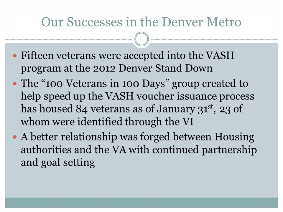 Our Successes in the Denver Metro
