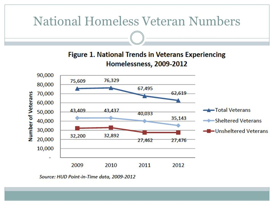 National Homeless Veteran Numbers