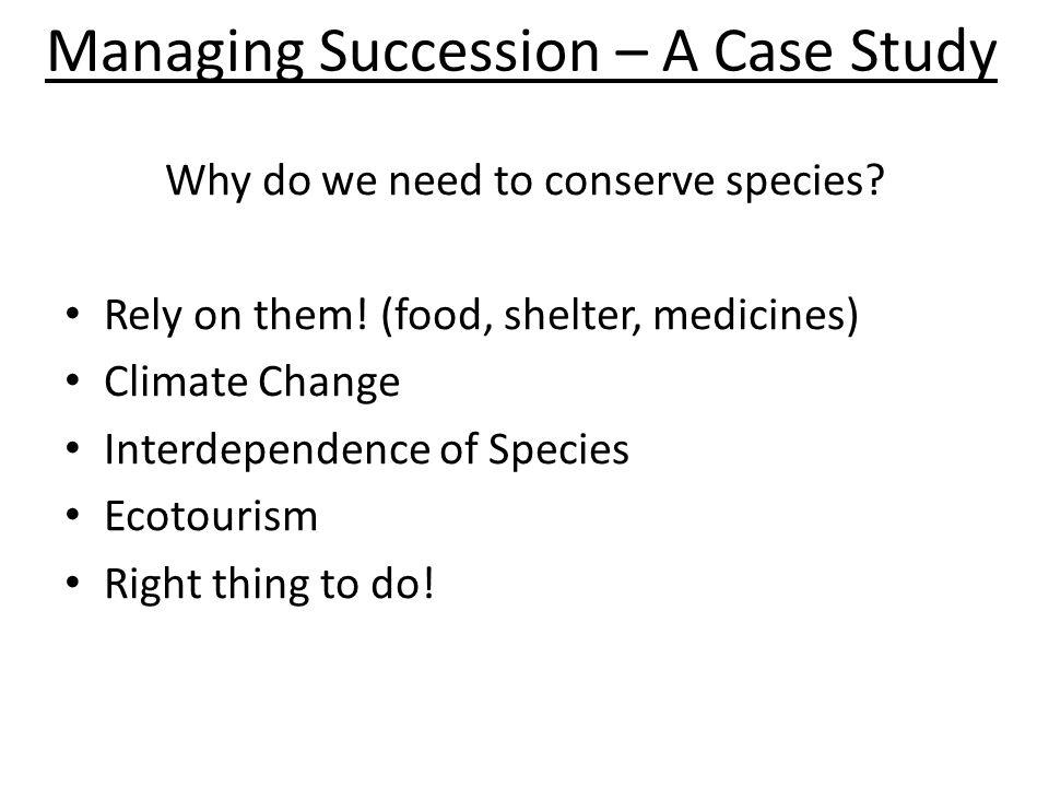 Managing Succession – A Case Study