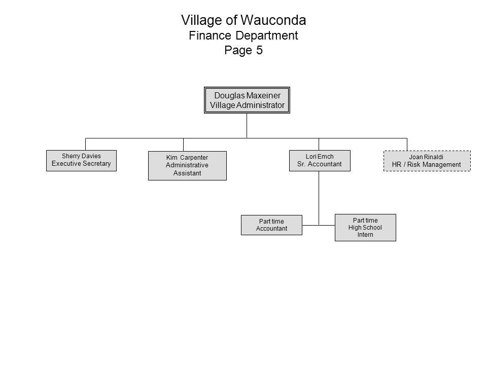 Village of Wauconda Finance Department Page 5