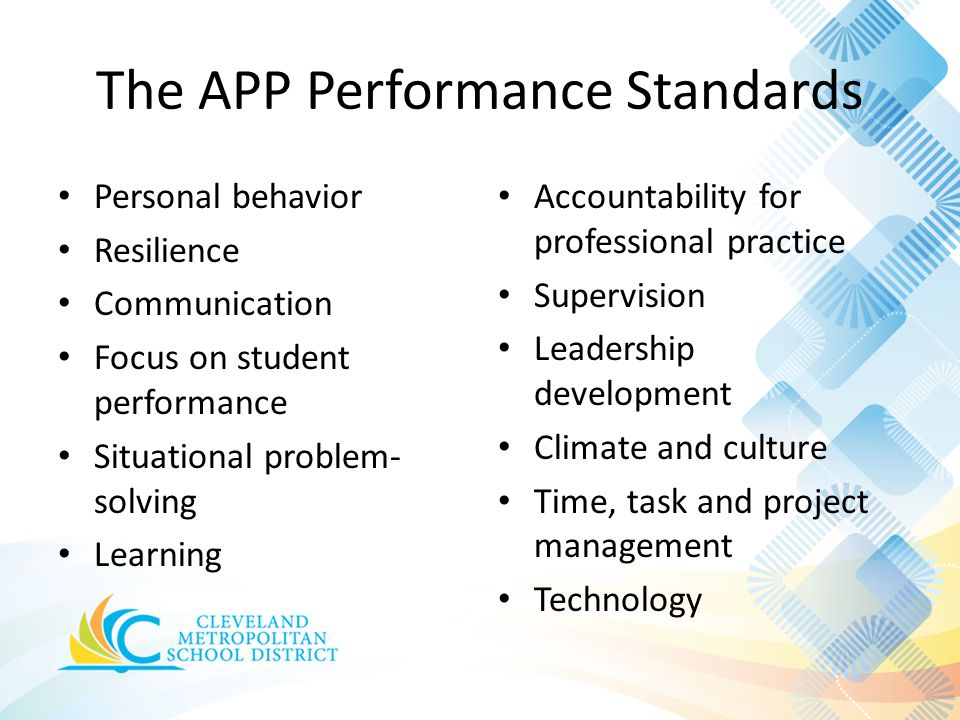 The APP Performance Standards