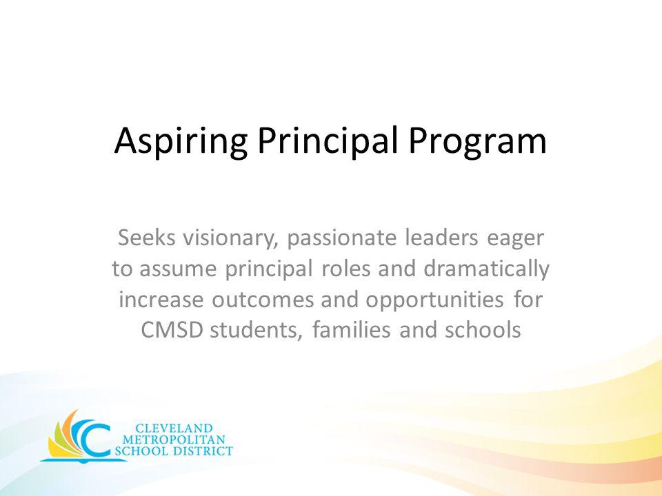 Aspiring Principal Program