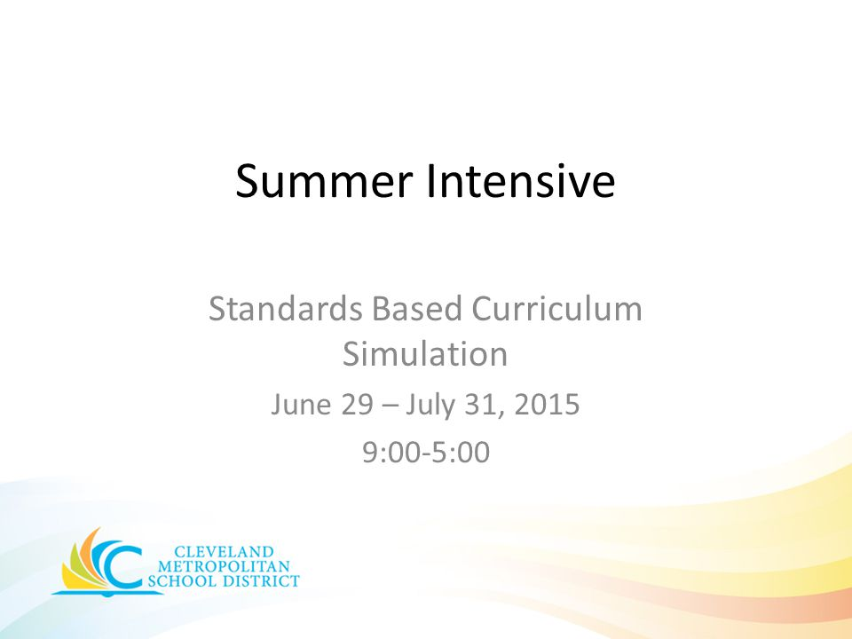 Standards Based Curriculum Simulation