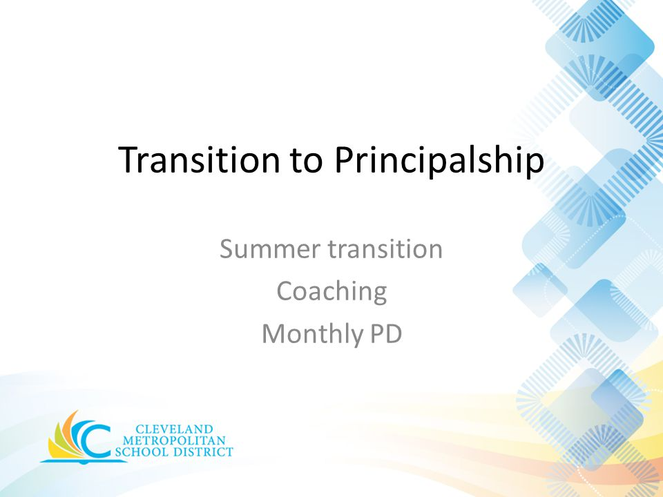 Transition to Principalship