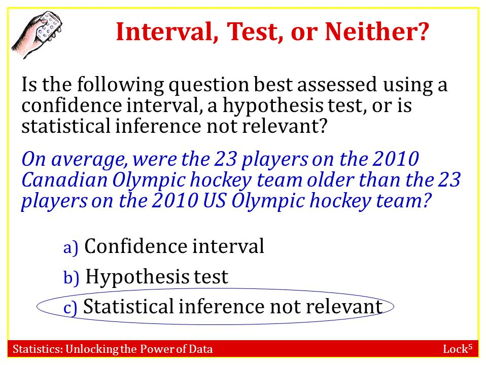 Interval, Test, or Neither