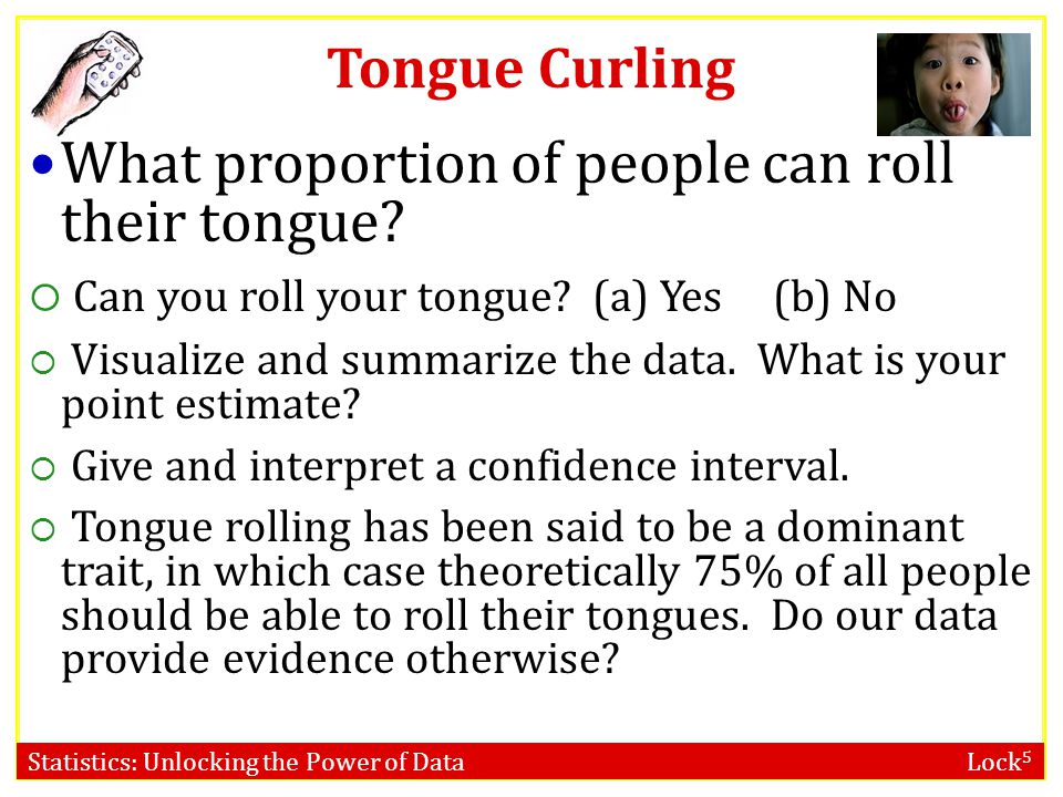 What proportion of people can roll their tongue