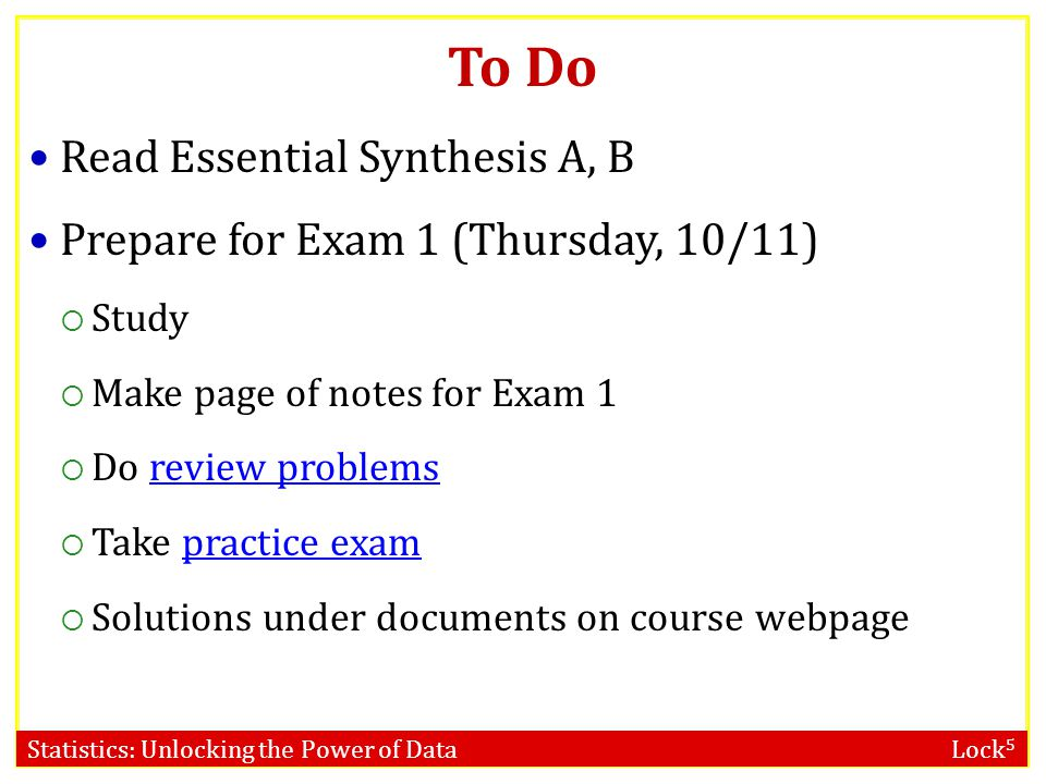 To Do Read Essential Synthesis A, B