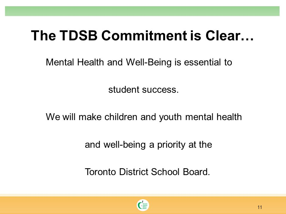 The TDSB Commitment is Clear…