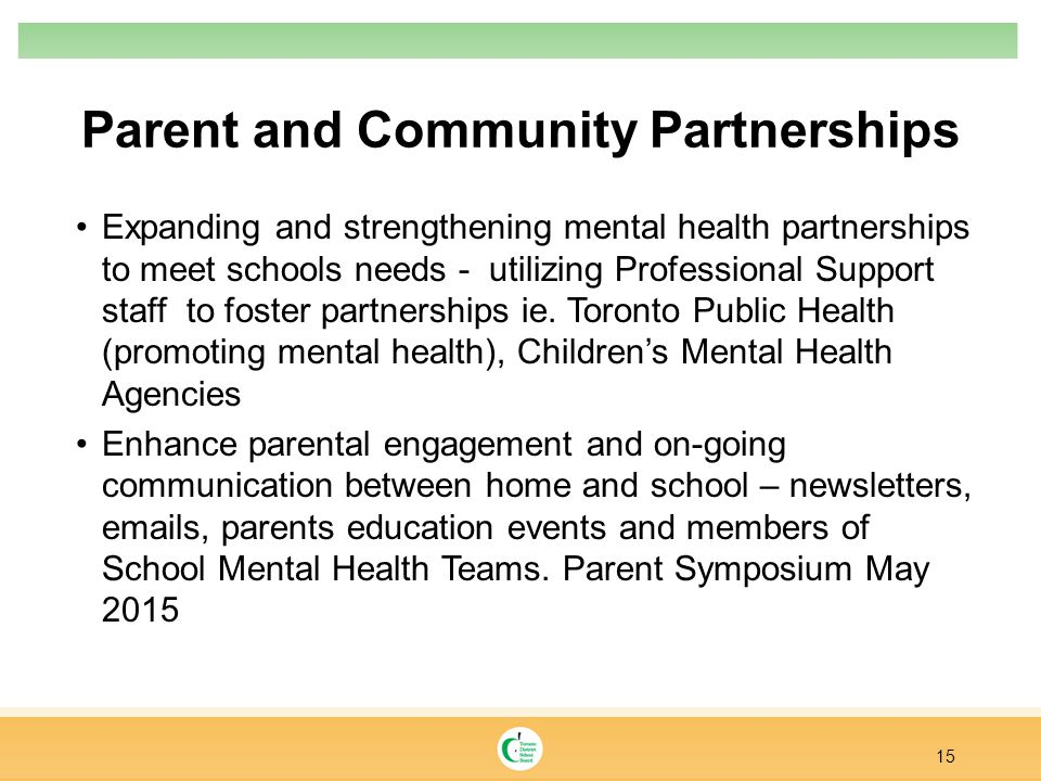 Parent and Community Partnerships