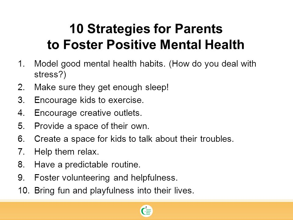10 Strategies for Parents to Foster Positive Mental Health