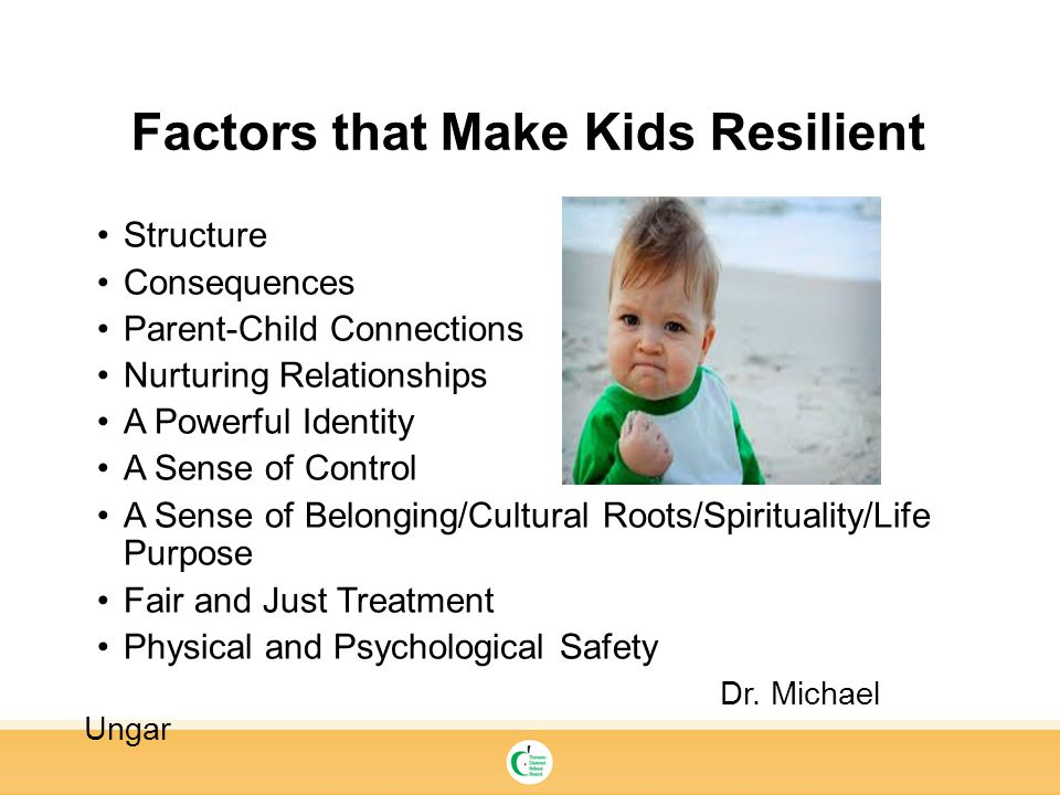Factors that Make Kids Resilient