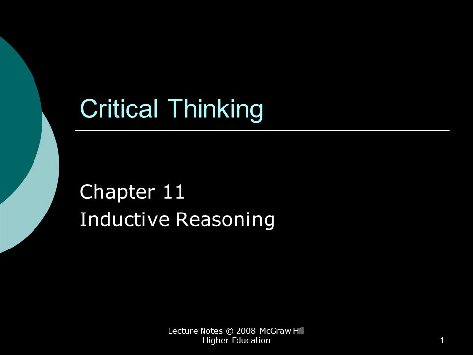 Chapter 11 Inductive Reasoning