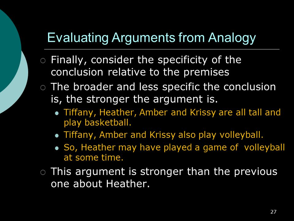 Evaluating Arguments from Analogy