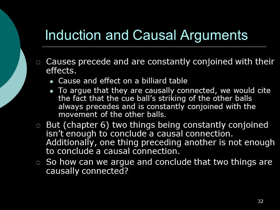 Induction and Causal Arguments