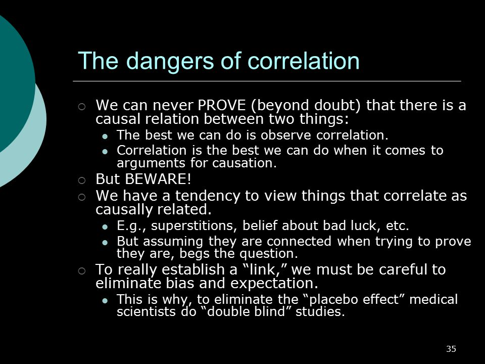 The dangers of correlation