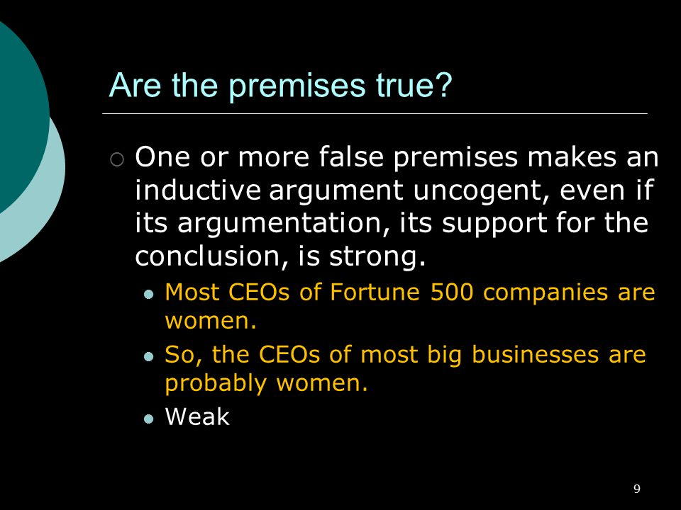 Are the premises true