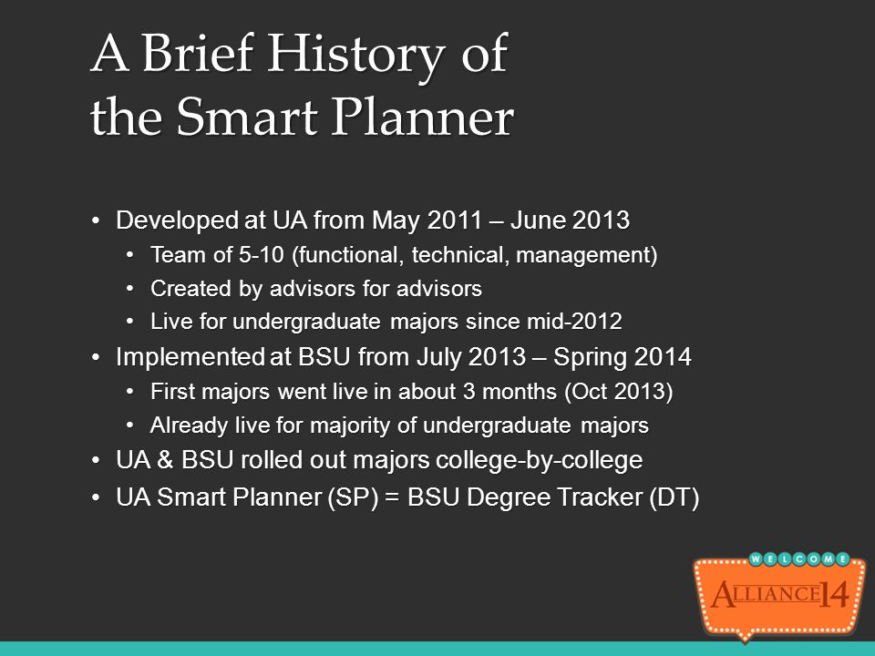 A Brief History of the Smart Planner