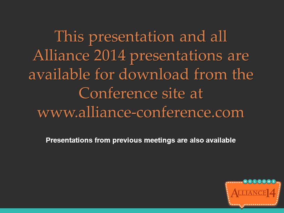 Presentations from previous meetings are also available